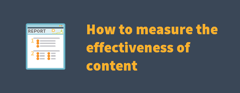 How to measure the effectiveness of content