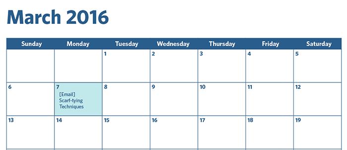 March calendar example