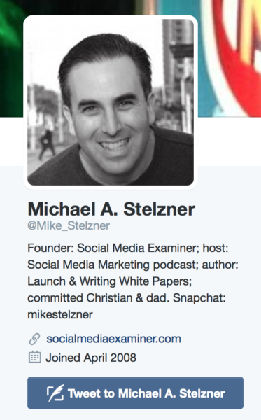 Michael Stelzner bio image