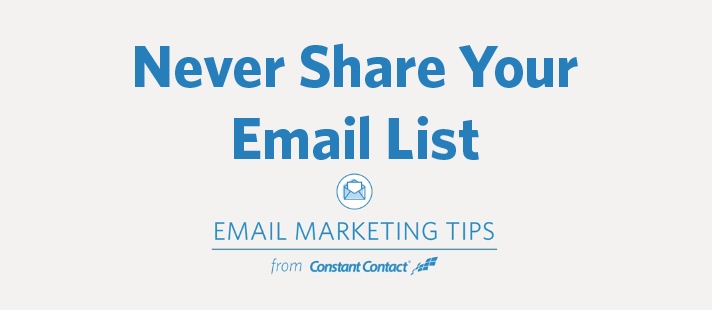 Never Share Your Email List