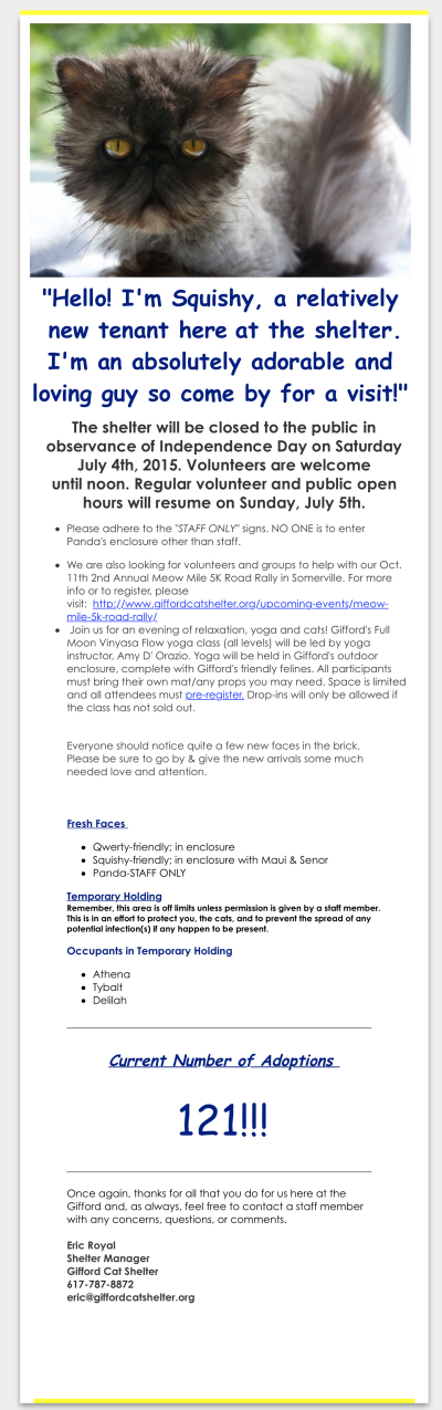 gifford nonprofit email example 1