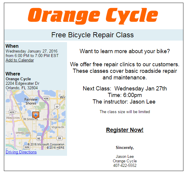 orange cycle how to tutorial