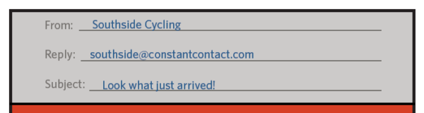 constant contact email header example
