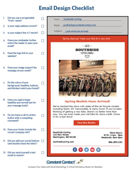 email design checklist image