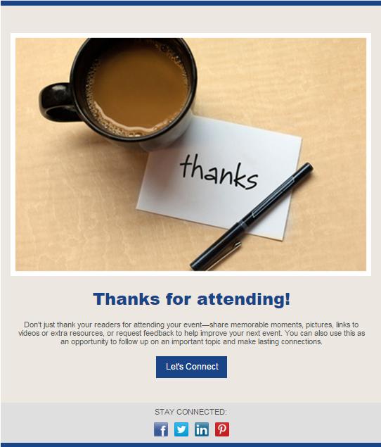 newsletter design event follow up