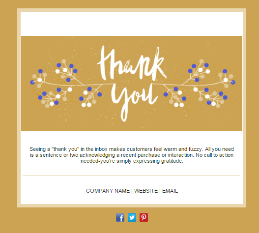 thank you card email template
