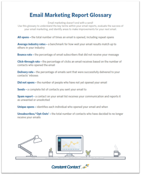 email marketing glossary screenshot