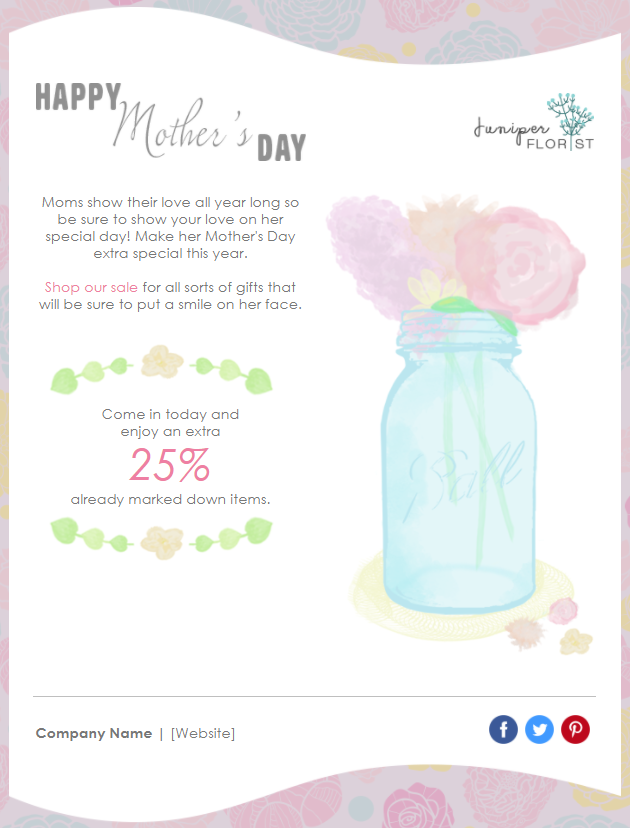 Mother's Day Marketing - email template - general card