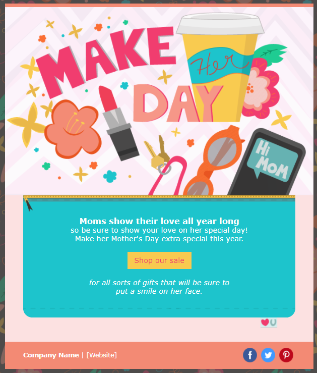 Mother's Day Marketing - email template for running a special