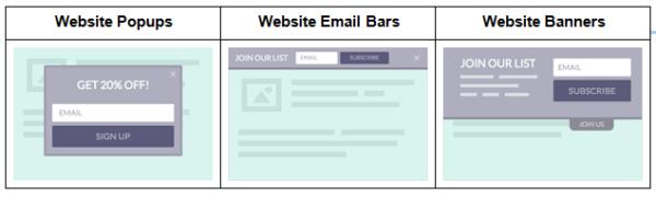 website popup examples