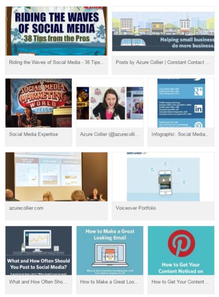 Linkedin profile portfolio content