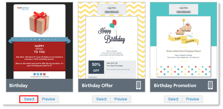 Email marketing automation without turning subscribers off constant contact birthday email templates image pronofoot35fo Images