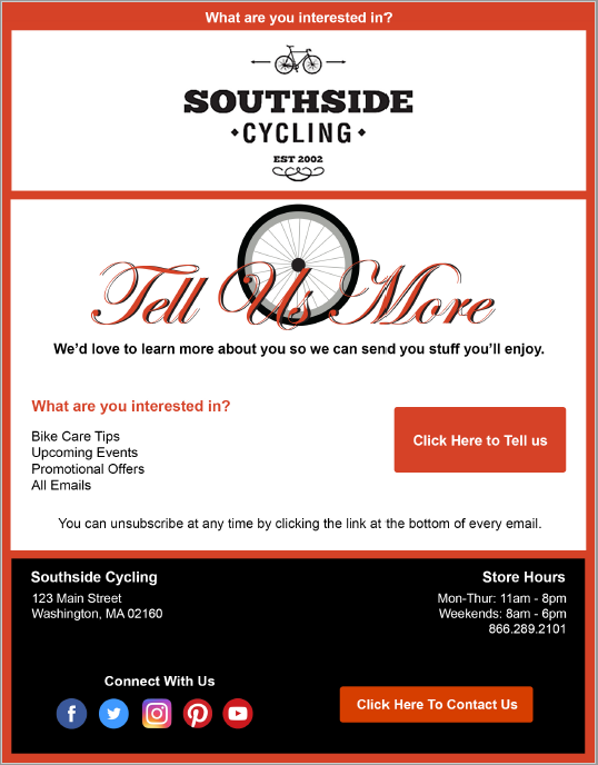 Welcome Email 3 - Southside
