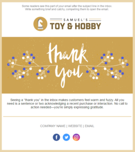 Constant Contact thank you email template