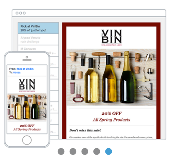 The Vin Bin email marketing example