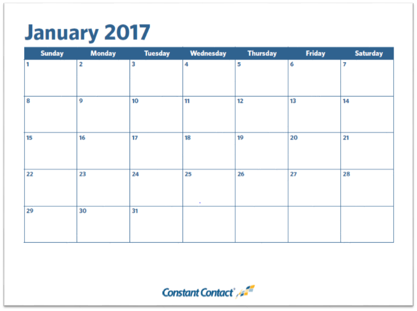 Email Marketing Calendar Template Constant Contact Blogs