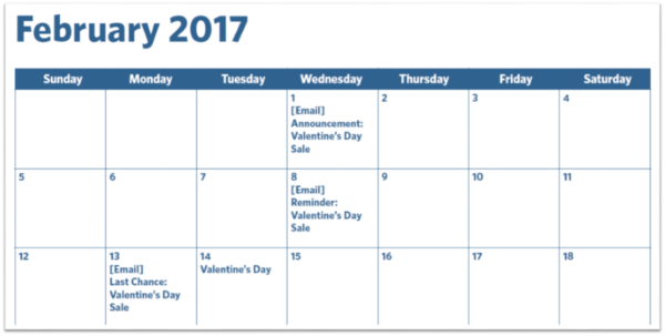 Its Here Your 2017 Email Marketing Calendar – Sample Marketing Schedule
