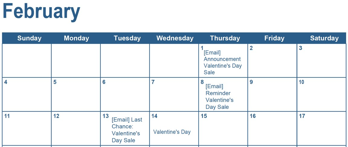 Updated feb calendar