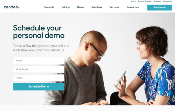 design a landing page example 1