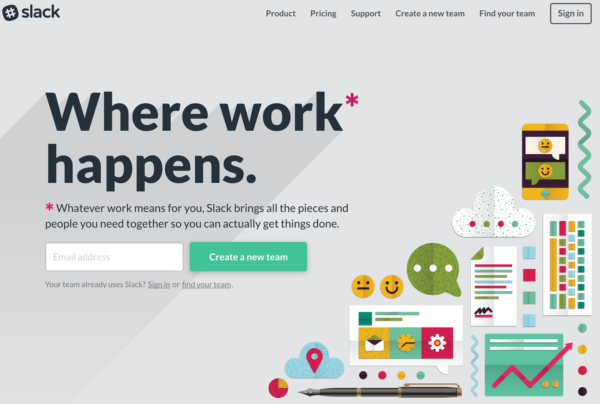 design a landing page example 2
