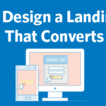 design a landing page ft image