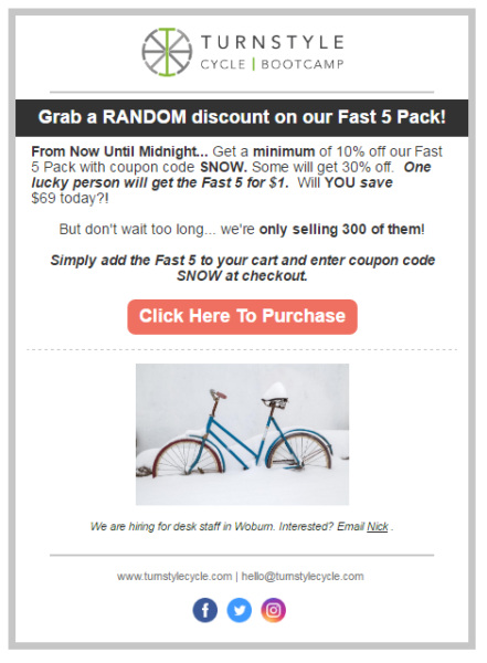 Measure Email Marketing example 1