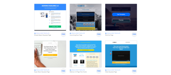 Build email list online -- leadpages