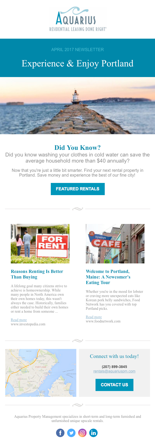 how to make a newsletter example