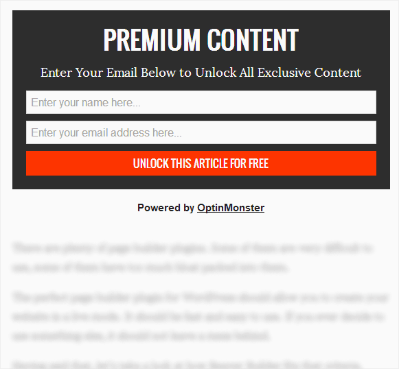 Grow your email list with WordPress -- exclusive content