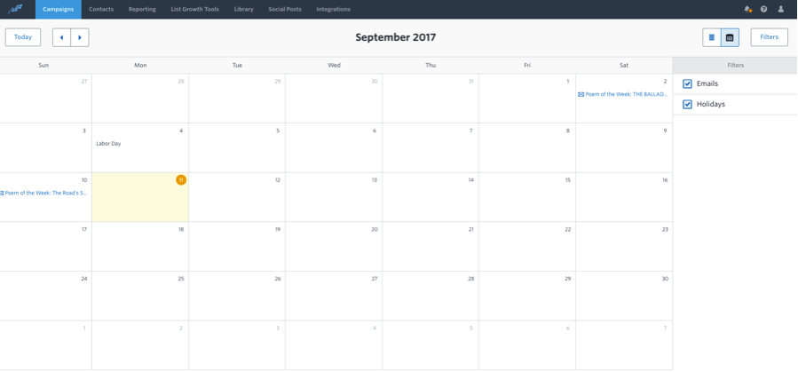 Constant Content Marketing Calendar 1