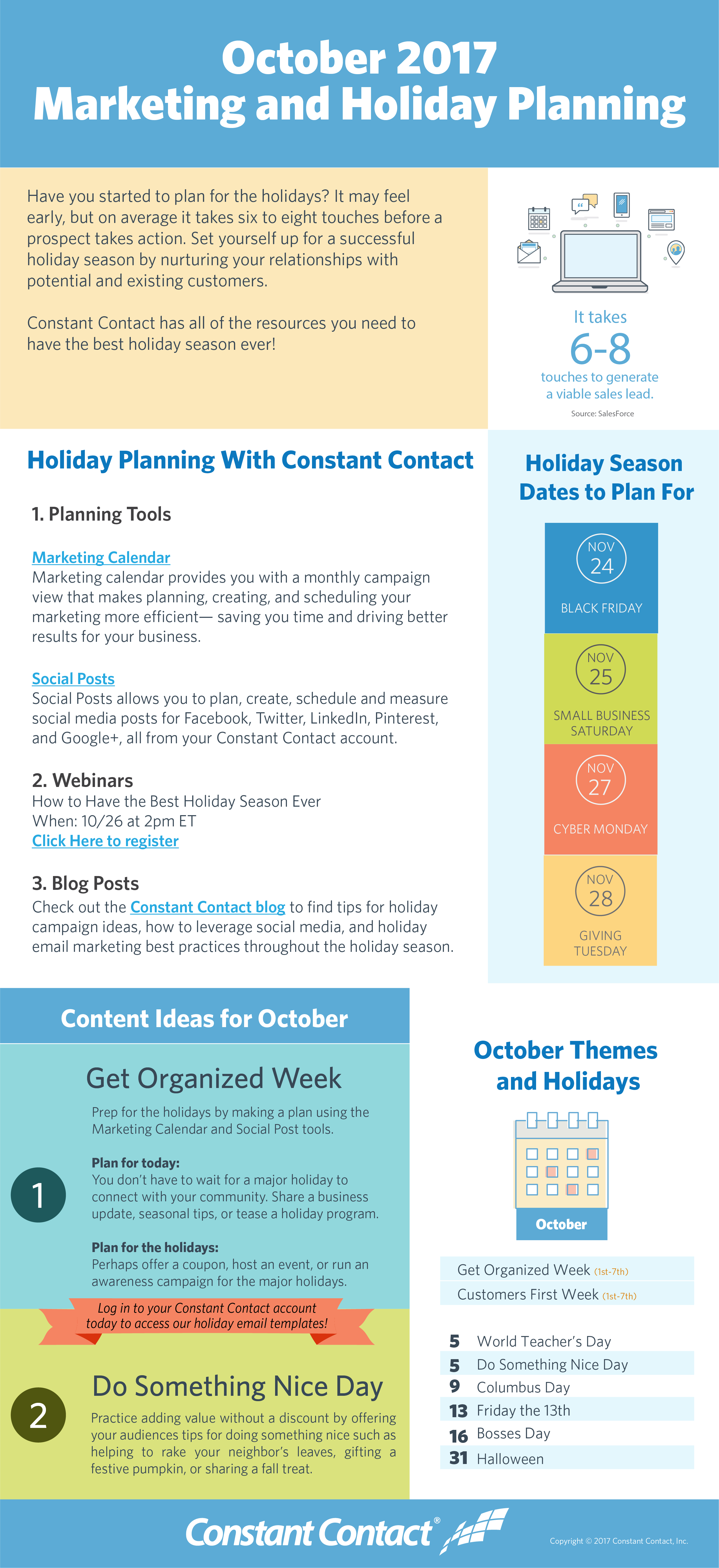 2017 October Holiday Infographic