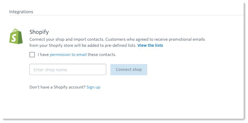 Connect Shopify with Constant Contact