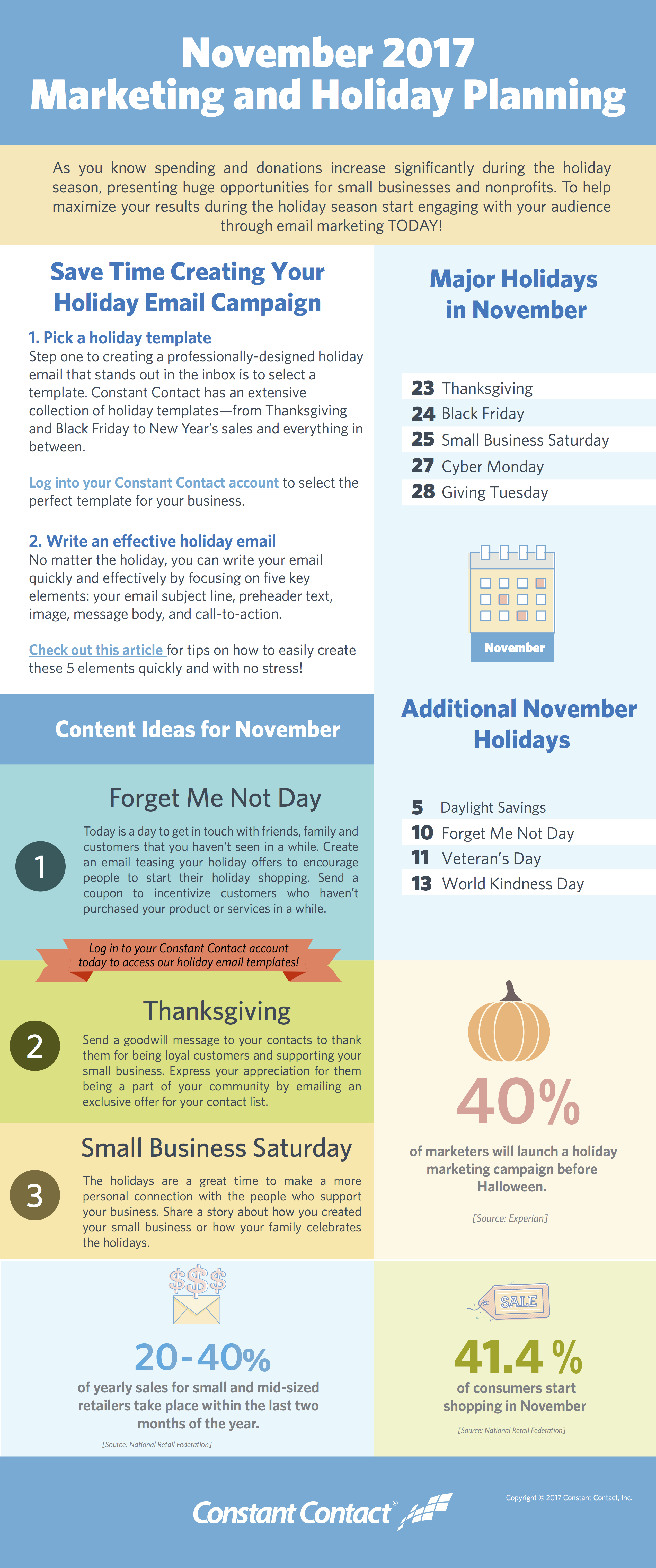 2017 November Holiday Infographic
