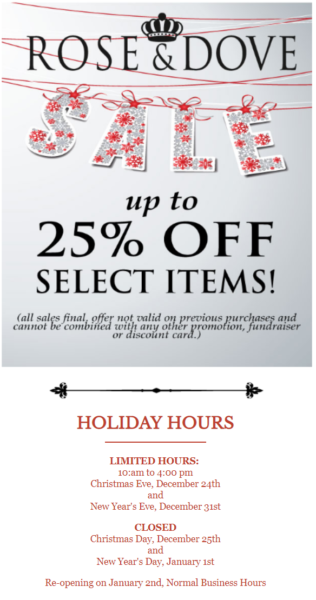 holiday email campaign holiday hours