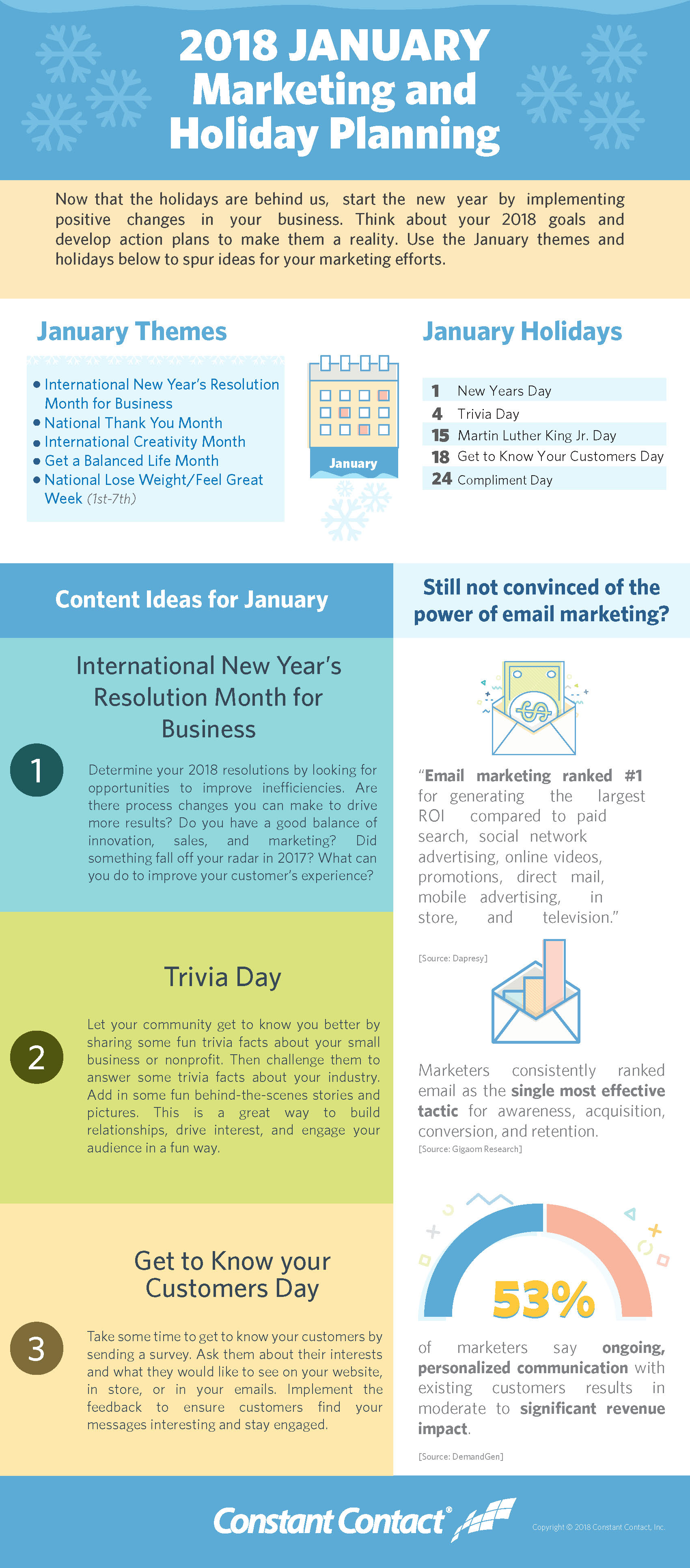 January 2018 Marketing and Holiday Planning | Constant Contact Blogs