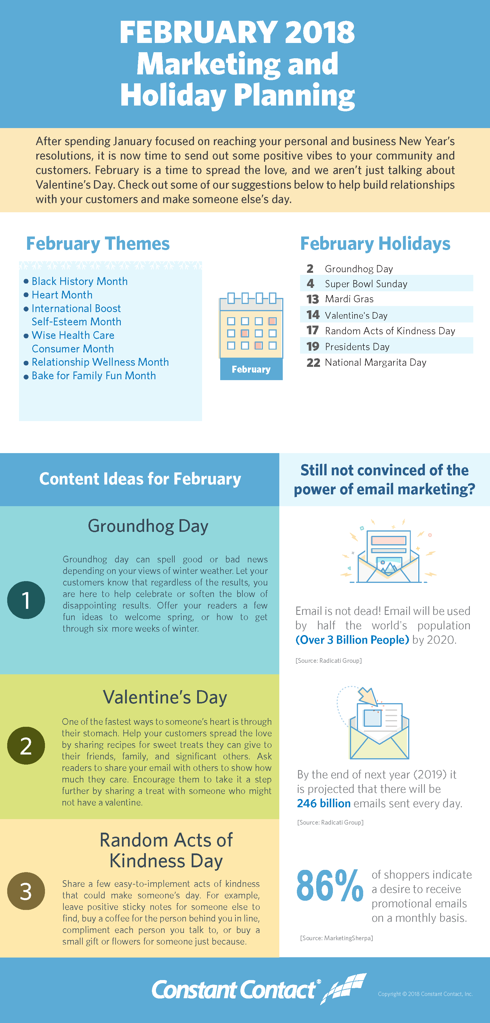 February 2018 Marketing and Holiday Planning | Constant Contact Blogs