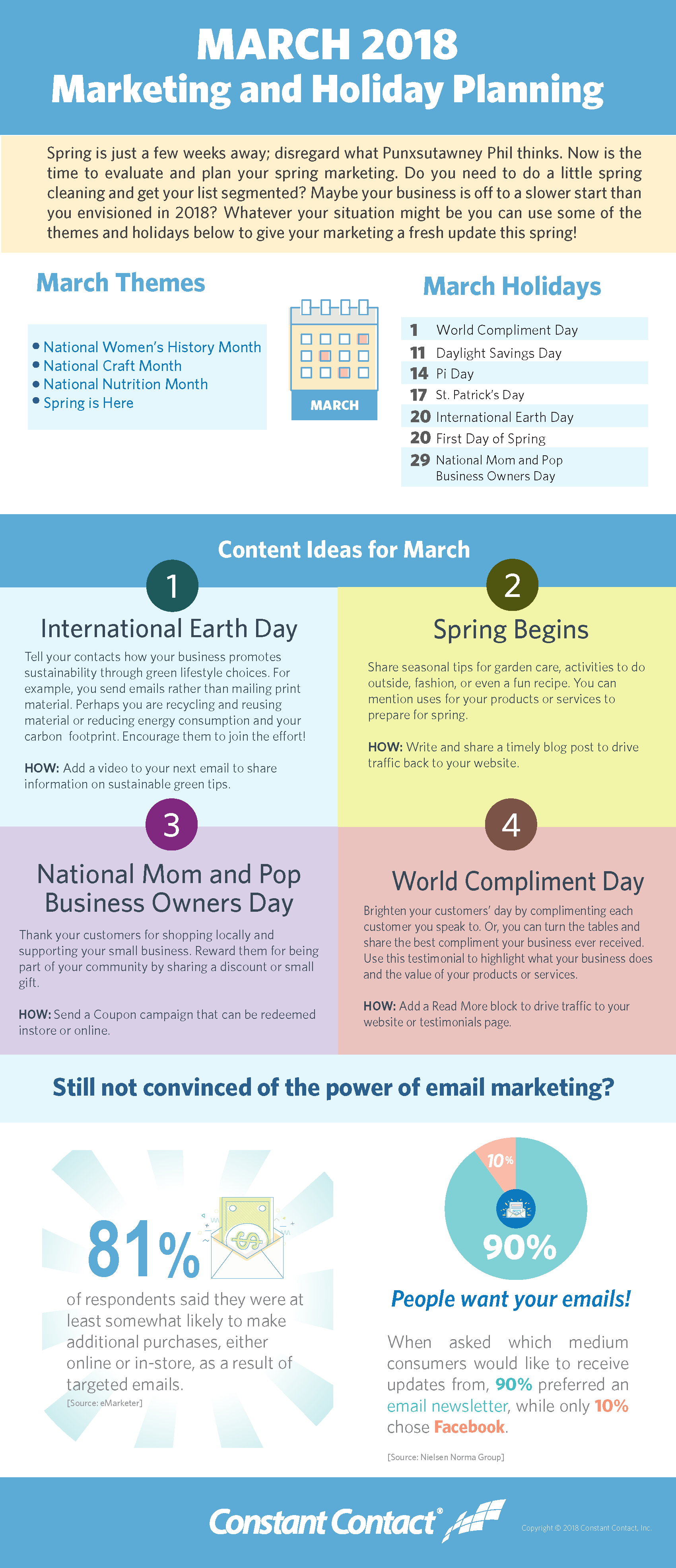 March 2018 Marketing and Holiday Planning | Constant Contact Blogs