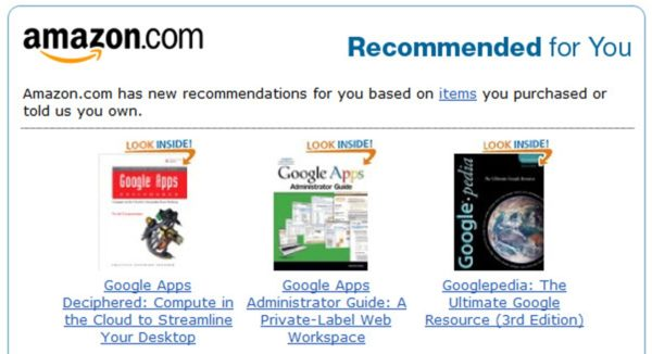 Product recommendations helps boost sales for Amazon