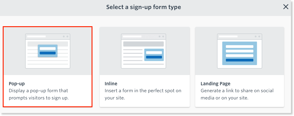There are many options when adding a pop up form to your website.