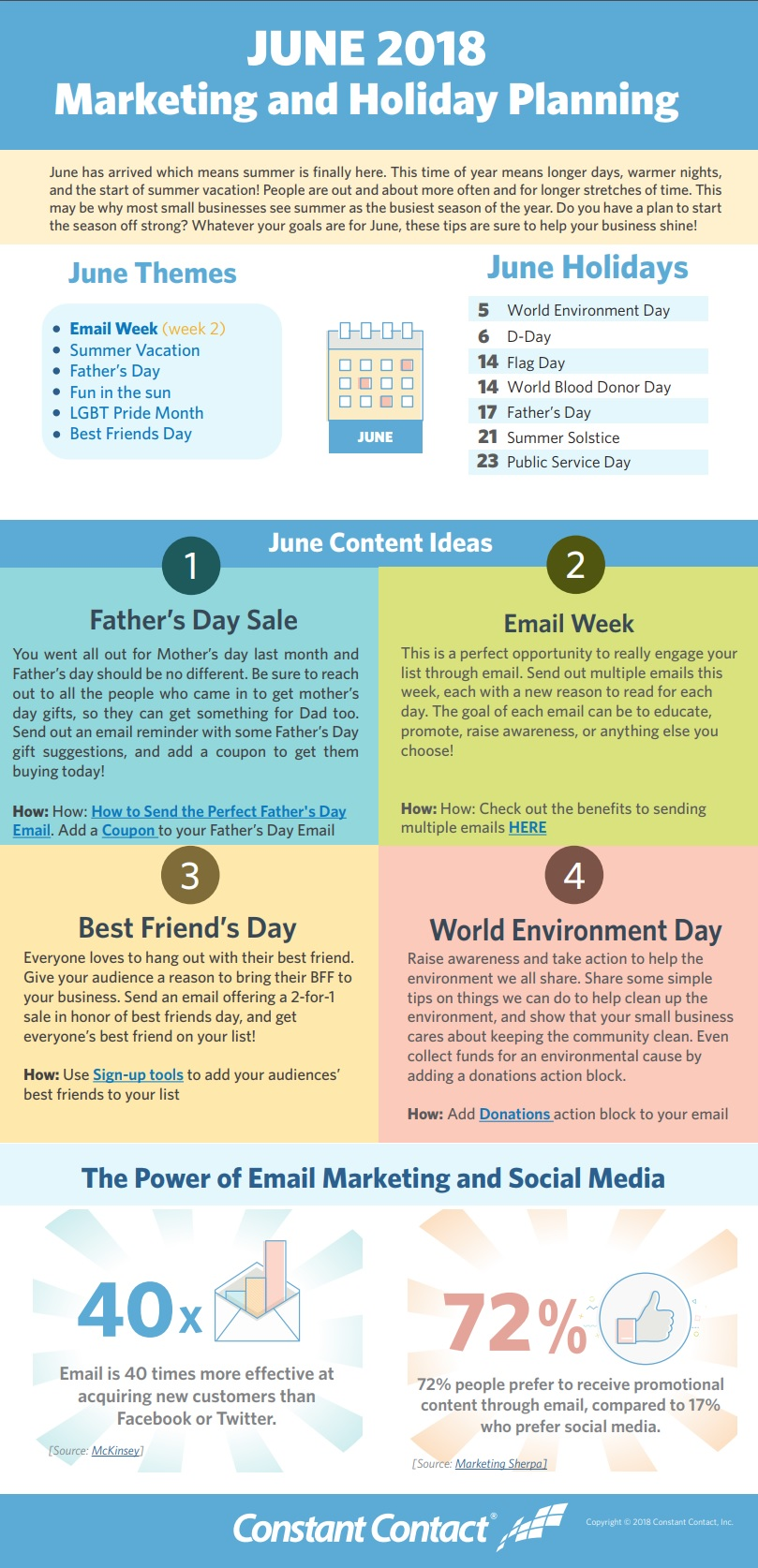 [Infographic] June 2018 Marketing and Holiday Planning 2