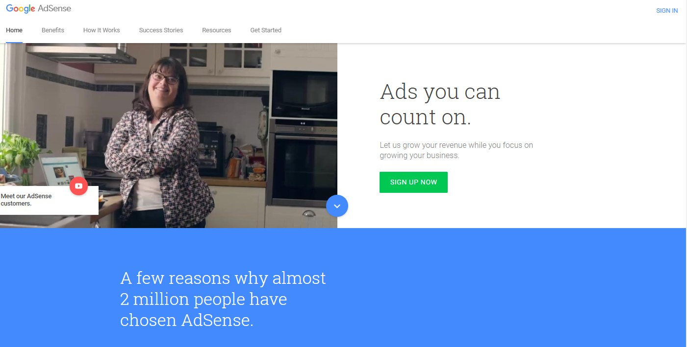 AdSense can deliver your retargeting ads across different websites and platforms.