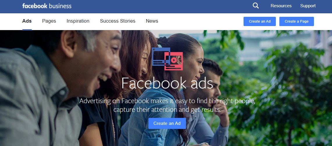 Facebook ads let you retarget customers where they're active.