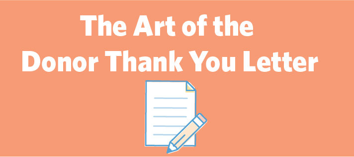 The Art of the Donor Thank You Letter