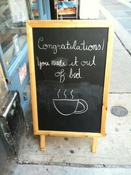 Chalkboard sign example