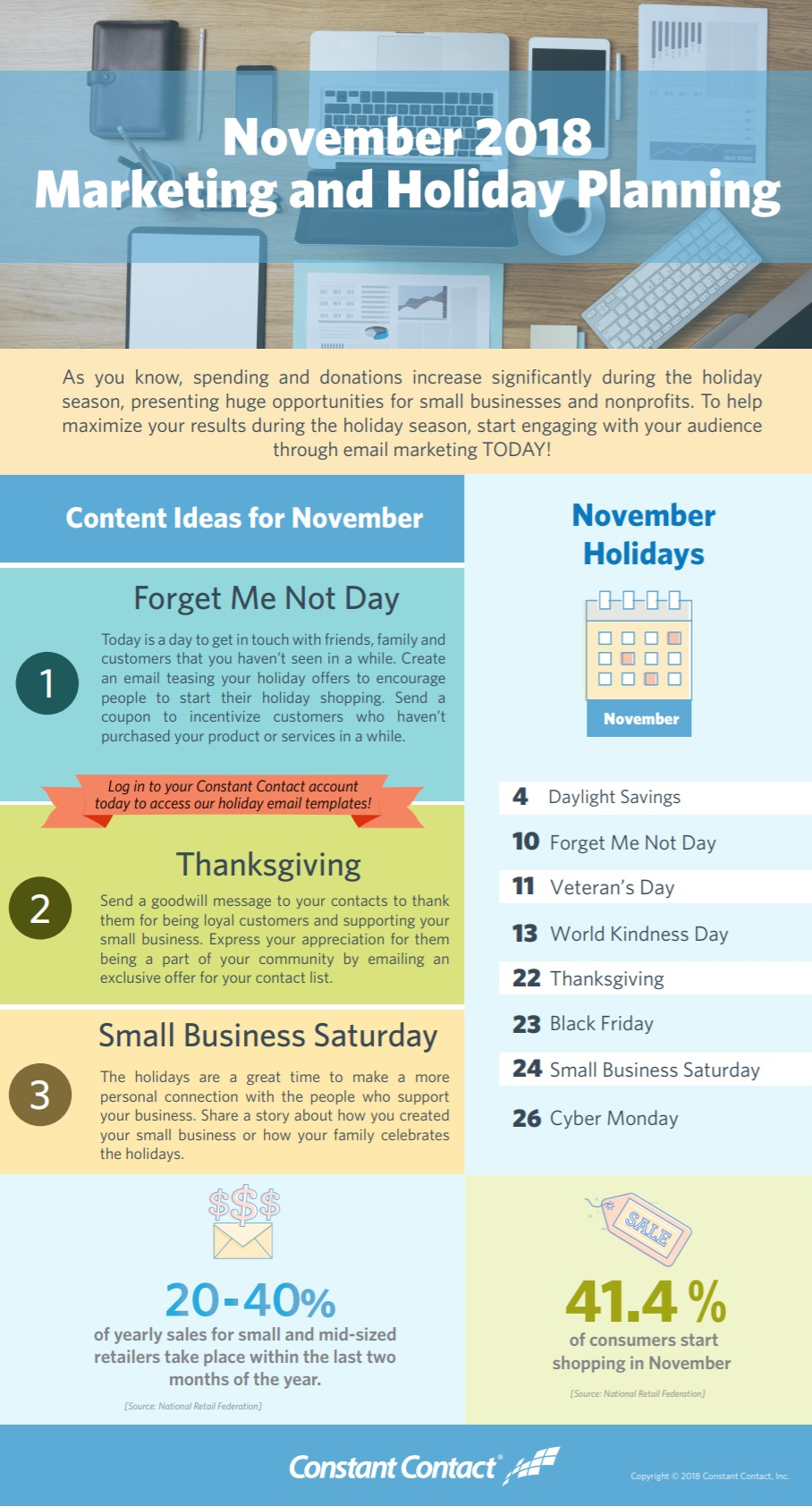 2018 November Holiday Infographic