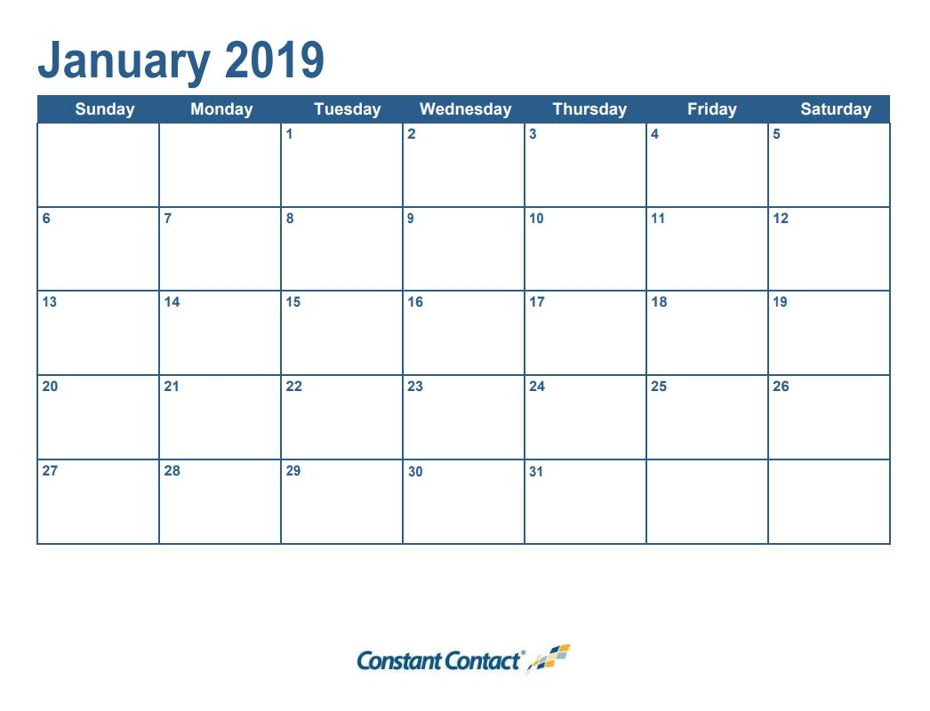 Content Calendar Template 2019.It S Here Your 2019 Email Marketing Calendar Constant Contact Blogs