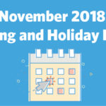 2018 November Holiday Infographic