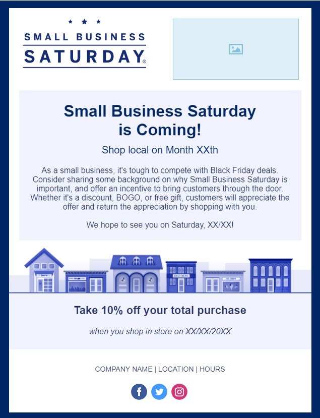 How to Rally Customers for Small Business Saturday constant contact email template