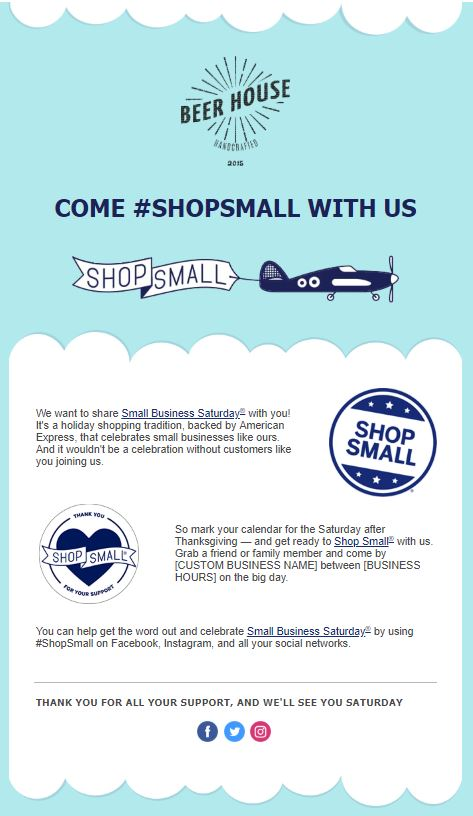 Small Business Saturday Card