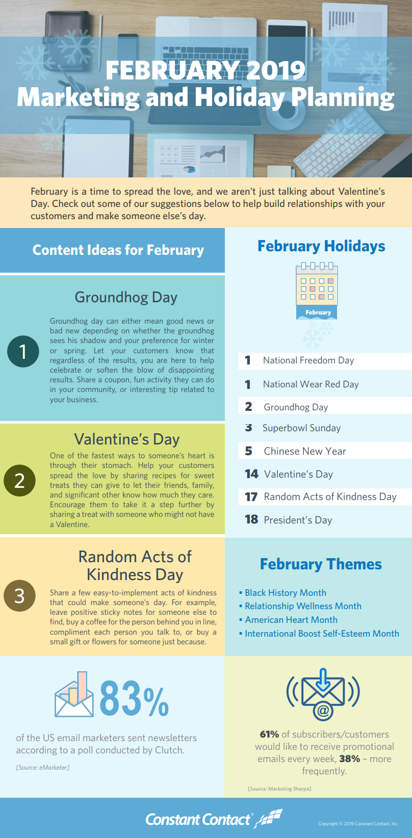 2019 February Holiday Infographic